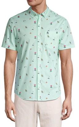 Original Penguin Grill-Print Cotton Shirt