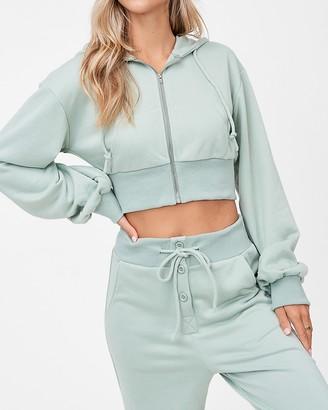 Express Emory Park Long Sleeve Cropped Sweatshirt