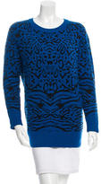 Torn By Ronny Kobo Zebra Pattern Crew Neck Sweater