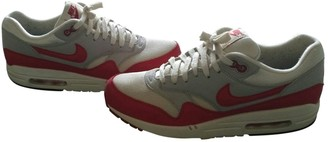 Nike 1 Red Suede Trainers