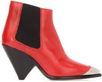 Etoile Isabel Marant Metal Toe Cap Ankle Boots
