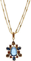 Carolee Cluster Pendant Double Strand Necklace