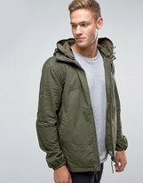 Pretty Green Jacket With Hood In Khaki