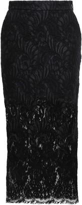 Stella McCartney Embroidered Wool-blend Lace Midi Skirt