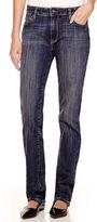 Liz Claiborne City-Fit Straight-Leg Jeans - Tall