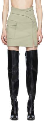 Dion Lee Khaki Pocket Interlock Miniskirt