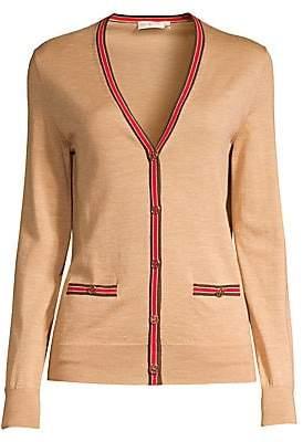 Tory Burch Women's Madeline Striped Trim Cardigan