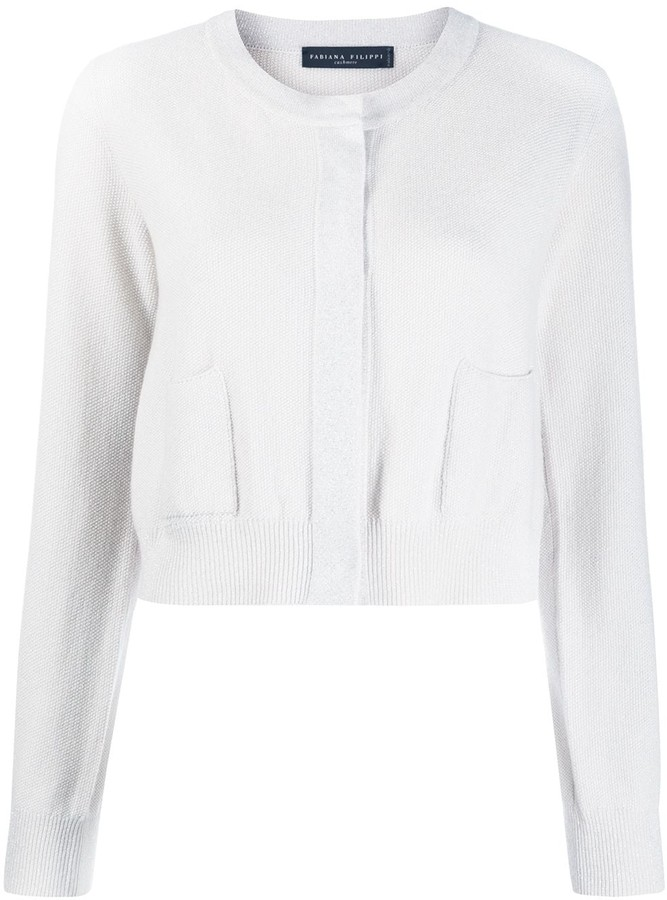 Fabiana Filippi Cropped Knit Cardigan