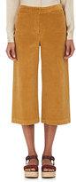 Masscob Women's Stretch-Cotton Corduroy Wide-Leg Crop Pants