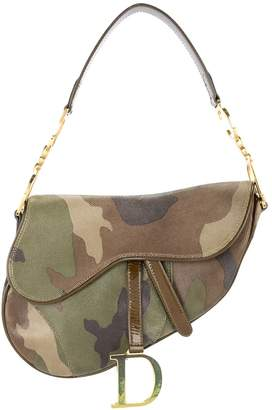 Christian Dior Pre Owned Saddle camouflage handbag
