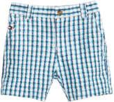 Tommy Hilfiger Gingham-Print Cotton Seersucker Shorts, Baby Boys