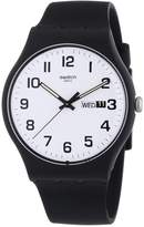 Swatch Men's Originals SUOB705 Black Silicone Swiss Quartz Watch