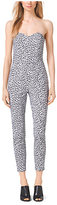 Michael Kors Animal-Print Cotton-Sateen Jumpsuit