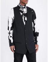 Ann Demeulemeester Pinstripe Longline Wool-blend Waistcoat