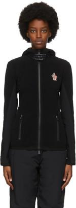 MONCLER GRENOBLE Black Contrast Zip-Up Jacket