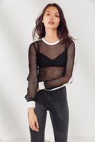 Out From Under Sport Fishnet Long Sleeve Top