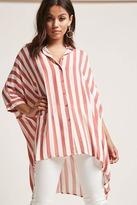 Forever 21 Stripe Oversized Dolman Shirt