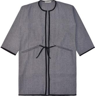 Lanefortyfive Musta4 Women's Coat - Grey Herringbone Tweed