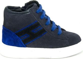 Hogan Sneakers H365 In Blue Suede