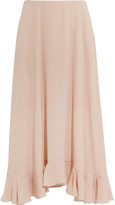 Chloé Ruffled Silk-crepe Maxi Skirt - Blush