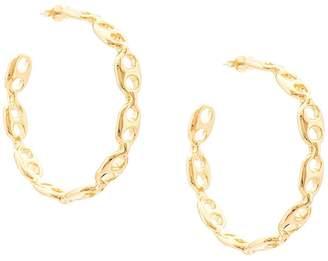 Lizzie Fortunato chain-link hoop earrings