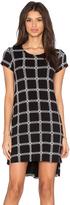 Michael Lauren Lucky Short Sleeve Side Slit Dress
