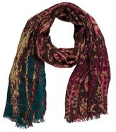 Kenneth Jay Lane Tie-Dye Fringe Scarf w/ Tags