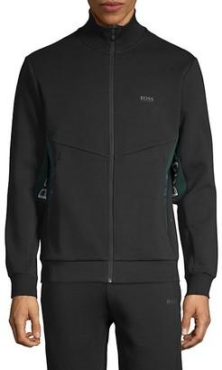 HUGO BOSS Full-Zip Cotton-Blend Track Jacket