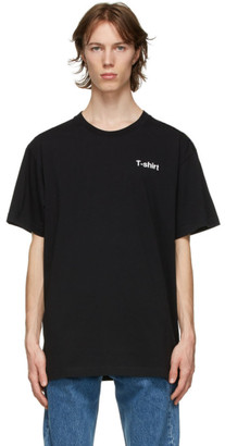 Vetements Black Definition T-Shirt