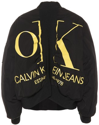 OK Logo bomber jacket