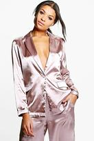 Boohoo Freya Premium Satin Tailored Blazer
