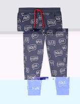 Marks and Spencer Cotton Rich Printed Joggers (3 Months - 7 Years)