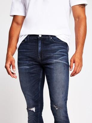 River Island Spray On Sticks Skinny Jeans - Black