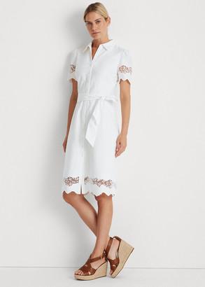 Ralph Lauren Eyelet Cotton Shirtdress