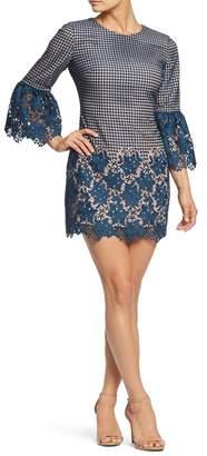 Dress the Population Crochet Minidress