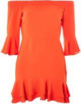 Topshop PETITE Frill Bardot Mini Dress