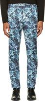 John Lawrence Sullivan Johnlawrencesullivan Blue Marbled Trousers