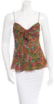 Diane von Furstenberg Embellished Silk Top