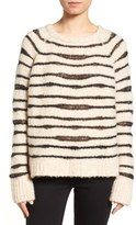 Zadig & Voltaire Kary Open Knit Stripe Sweater