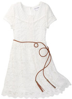 Ten Sixty Sherman Lace Belted Dress (Big Girls)