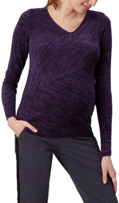 Stowaway Collection Directional Knit Maternity Top