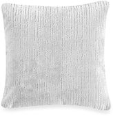 Kenneth Cole Reaction Home Etched Square Throw Pillow in Platinum