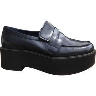 Jil Sander Blue Leather Flats