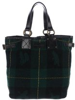DSQUARED2 Leather-Trimmed Wool Tote