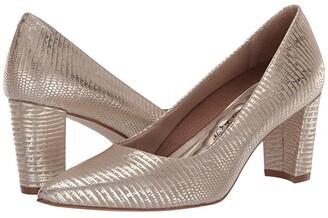 Walking Cradles Samantha (New Gold Antique Metallic Lizard Print Leather) Women's Shoes
