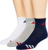 adidas 3-pk. Athletic Cushioned Quarter Socks