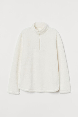 H&M Faux Shearling Sweater - White