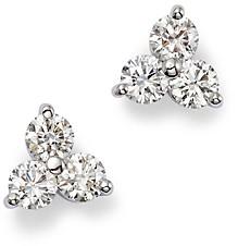 Roberto Coin 18K White Gold Diamond Cluster Stud Earrings