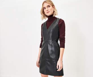 Oasis LEATHER SHIFT DRESS