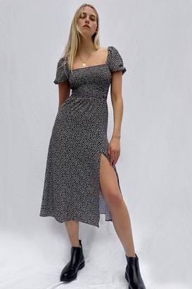French Connenction Elao Verona Crepe Midi Smock Dress